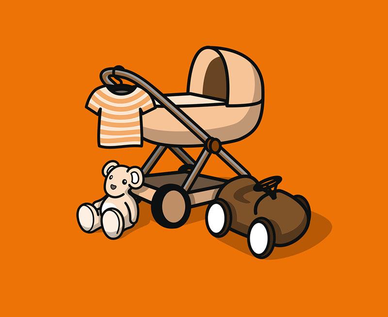 Decke für Babybett